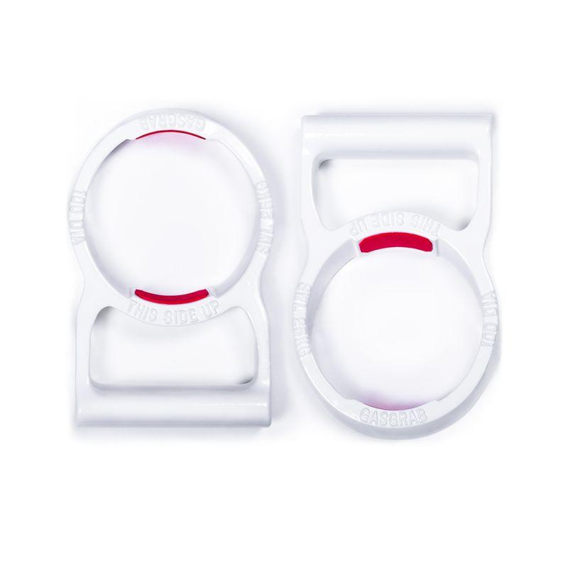 """GasGrab™  4"""" (100mm) PAIR - White Gloss"""